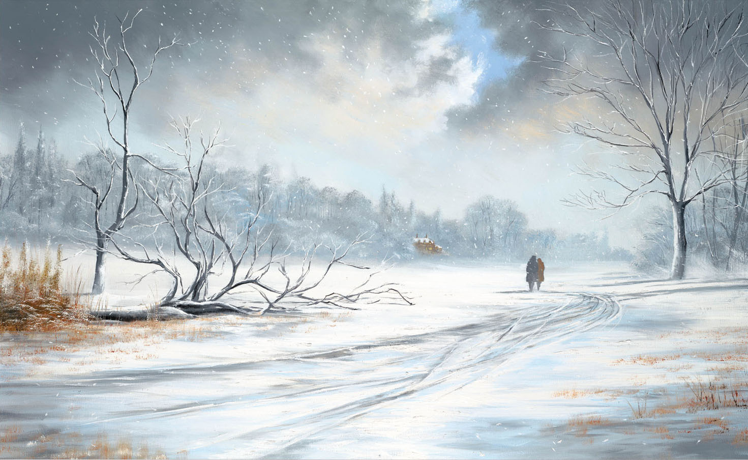 ... the weather i used to paint snow scenes many years ago and it is